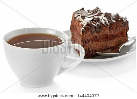 Cup Of Hot Tea And Homemade Cake
