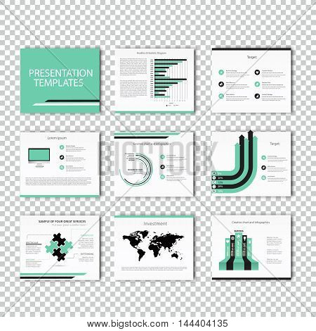 Set of infographic Presentation Template , Infographic Element , Business infographic, Layout design, Modern Style, Vector design illustration.