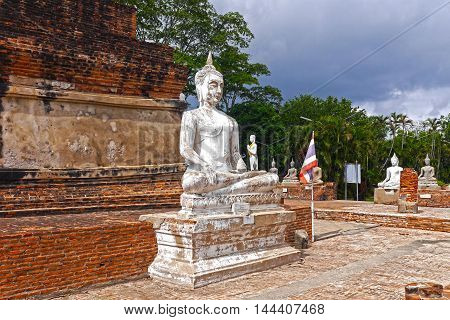 Beautiful view of a Buda in Ayutthaya. THAILAND