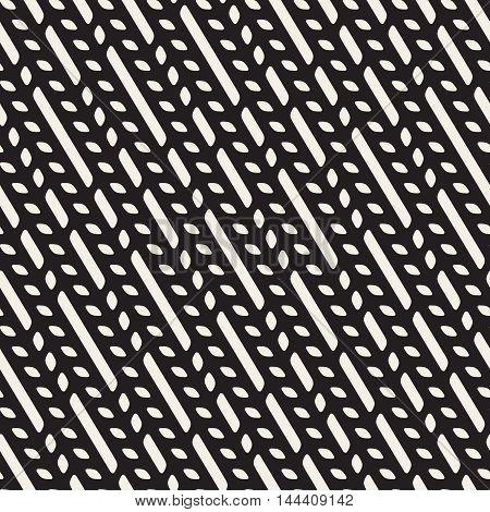 Vector Seamless Diagonal Lines Irregular Pattern. Abstract Geometric Background Design