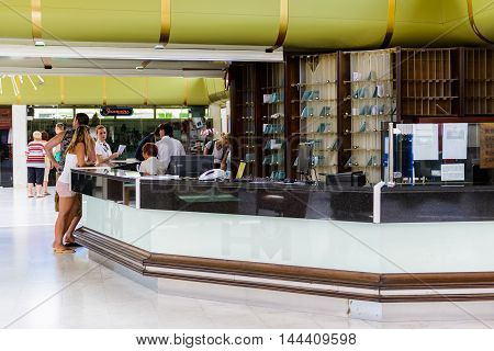 SEGET DONJI, CROATIA - AUG 20, 2014: Hotel Medena in Croatia. Hotel Medena is located 150m from the Adriatic Sea Coast and has 630 rooms