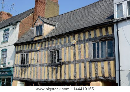 ROSS-ON-WYE, HEREFORDSHIRE - AUGUST 17, 2016: Historic building in the market town of Ross-on-Wye, Herefordshire, UK