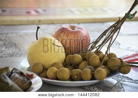 Fruit To pray Shrine in Chinese culture.