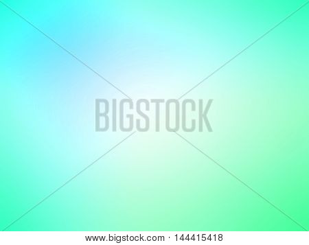 Abstract Gradient Turquoise Blue Teal Green Colored Blurred Background