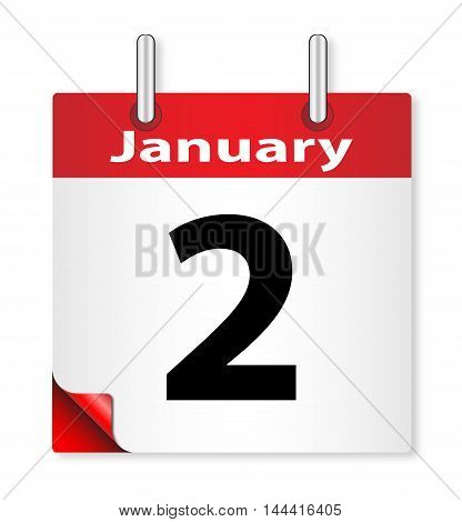 A calender date offering the 2nd January