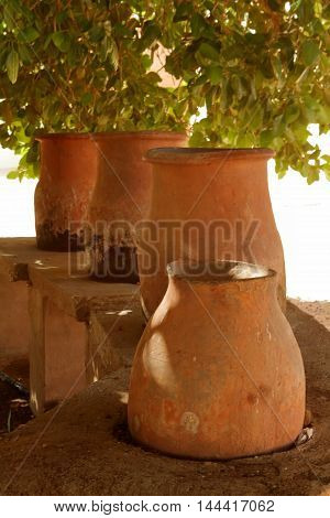 Terracotta Amphora and jugs in the Sahara