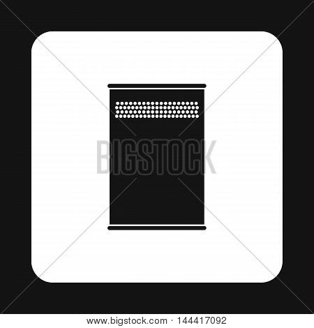 Trash icon in simple style isolated on white background. Sanitation symbol