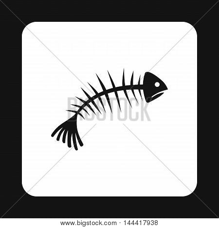 Fish bones icon in simple style isolated on white background. Garbage symbol