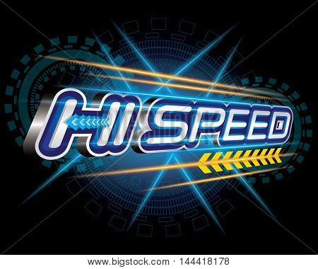 Hi Speed Concept vector for design template
