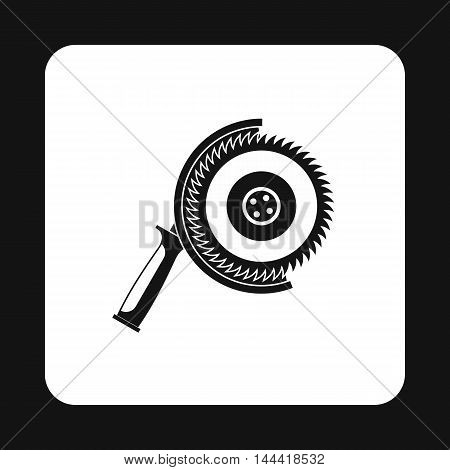Circular saw icon in simple style isolated on white background. Tool symbol