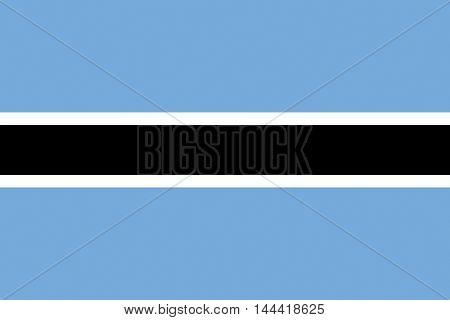 Illustration of the national flag of Botswana
