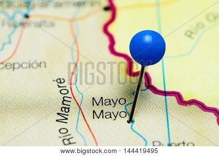 Mayo Mayo pinned on a map of Bolivia
