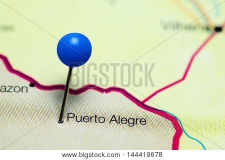 Puerto Alegre pinned on a map of Bolivia