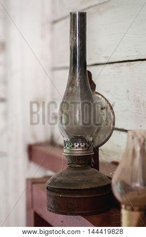 Vintage Kerosene Lamp And Candle Holder