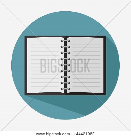 note book paper icon vector illustration graphic