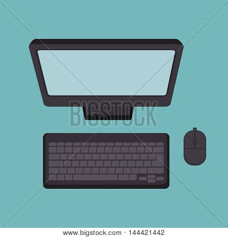 computer desktop technology icon vector illustration graphic