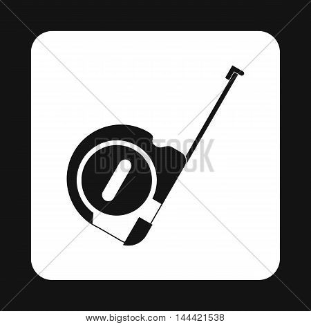 Construction roulette icon in simple style isolated on white background. Measurement symbol
