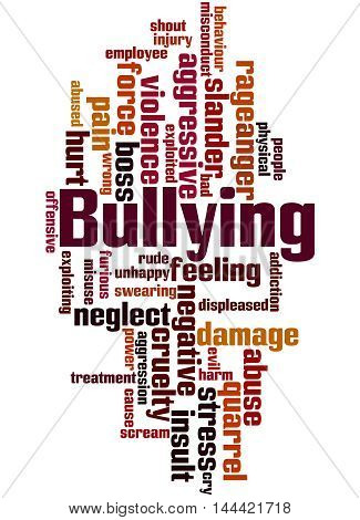 Bullying, Word Cloud Concept 6