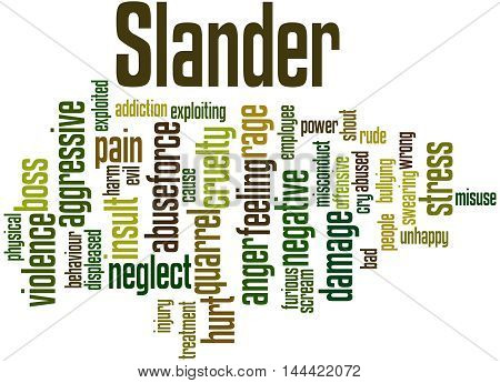 Slander, Word Cloud Concept
