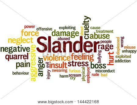 Slander, Word Cloud Concept 6