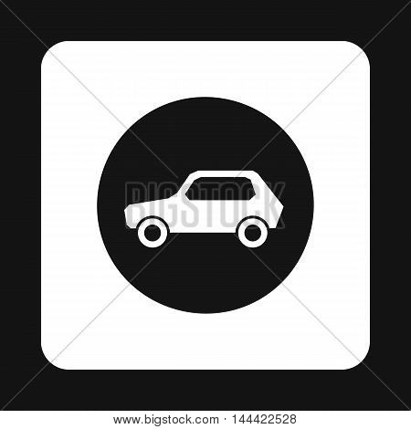 Sign cars icon in simple style isolated on white background. Rules of the road symbol