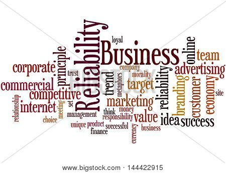 Business Reliability, Word Cloud Concept 7