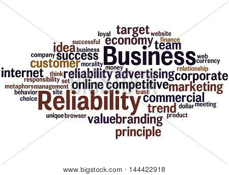 Business Reliability, Word Cloud Concept 8