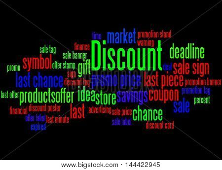 Discount, Word Cloud Concept