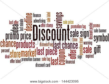 Discount, Word Cloud Concept 9