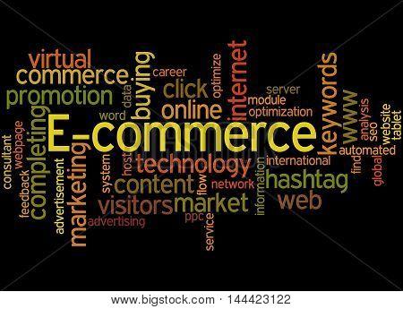 E-commerce, Word Cloud Concept