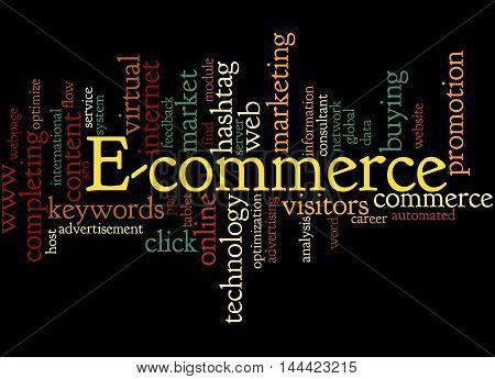 E-commerce, Word Cloud Concept 7