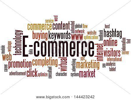 E-commerce, Word Cloud Concept 9