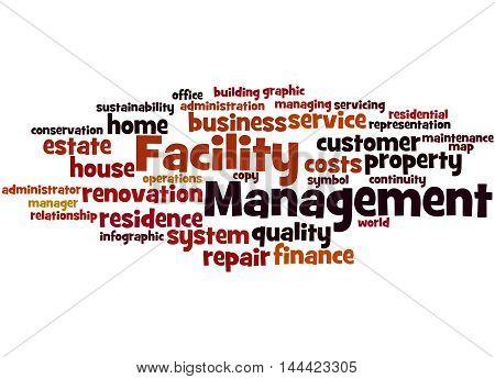 Facility Management, Word Cloud Concept 3