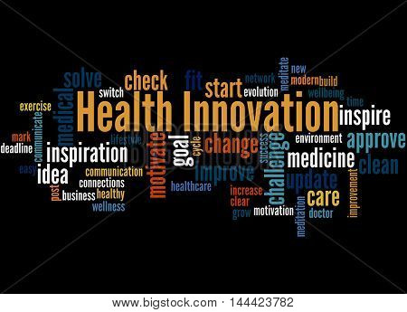 Health Innovation, Word Cloud Concept 2