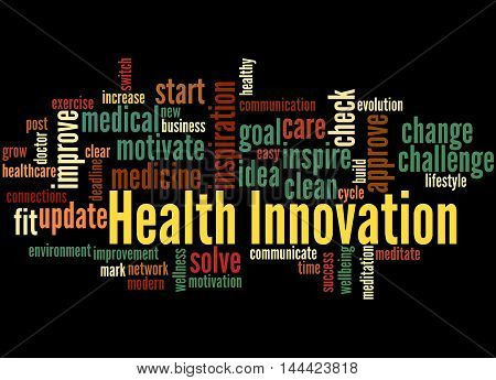 Health Innovation, Word Cloud Concept 4