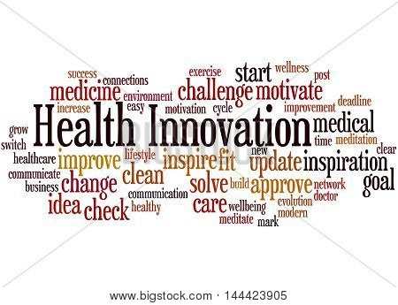 Health Innovation, Word Cloud Concept 9