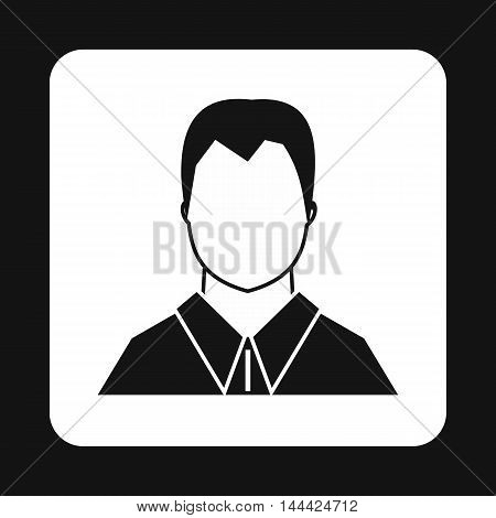 Man in shirt avatar icon in simple style isolated on white background. People symbol