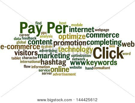 Pay Per Click, Word Cloud Concept 4