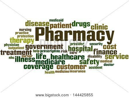 Pharmacy, Word Cloud Concept 4