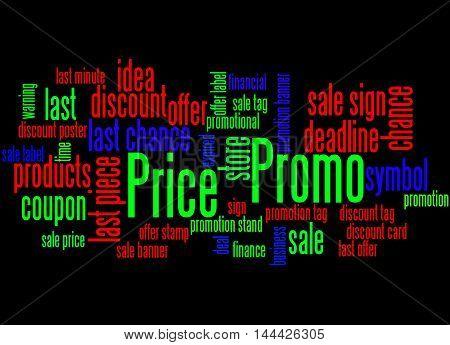 Promo Price, Word Cloud Concept 5