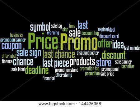 Promo Price, Word Cloud Concept 8