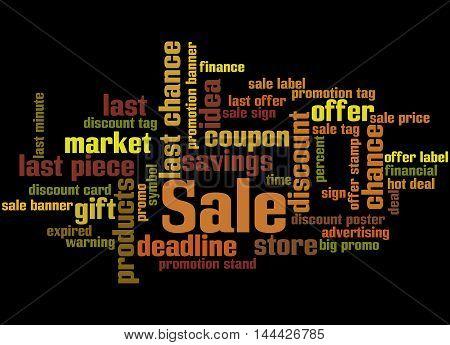 Sale, Word Cloud Concept 4