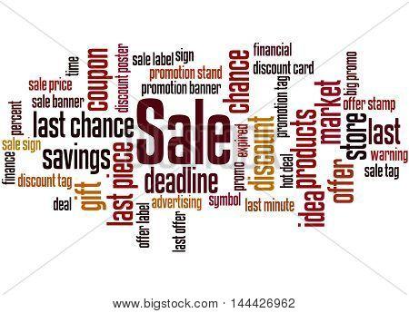 Sale, Word Cloud Concept 9