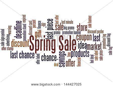 Spring Sale, Word Cloud Concept 3