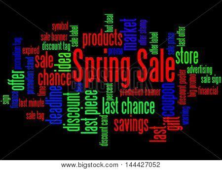 Spring Sale, Word Cloud Concept 5