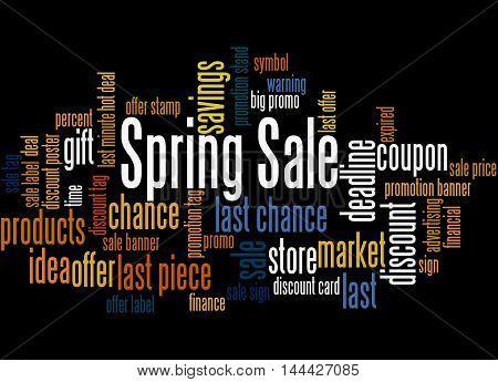 Spring Sale, Word Cloud Concept 7