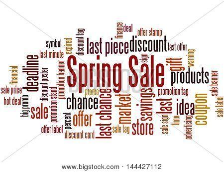 Spring Sale, Word Cloud Concept 9