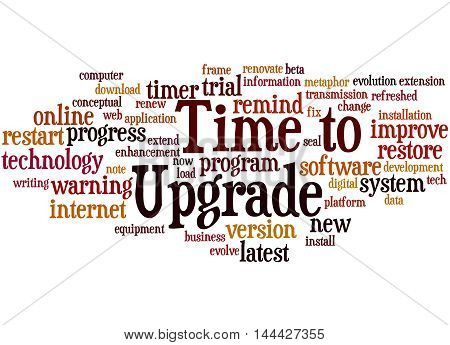 Time To Upgrade, Word Cloud Concept 3