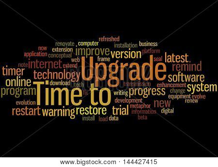 Time To Upgrade, Word Cloud Concept 7
