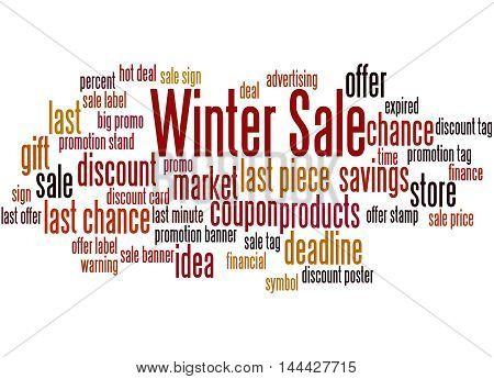 Winter Sale, Word Cloud Concept